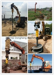 Excavator attachment hydraulic earth drill 1200mm earth auger