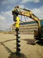 Solar ground helical screw pile driver