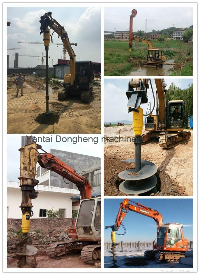 Wholesale Hydraulic Excavator Earth Auger Ground Drill 5