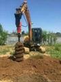 Hydraulic Excavator Auger Boring Machine