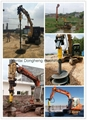 Hot Sale Hydraulic Excavator Earth Auger  5