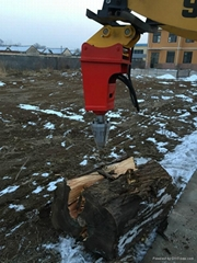 Excavator Mounted Log cone screw splitter