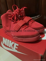 Wholesale nike Authentic adidas Air Yeezy 2 Red original new style  best quality