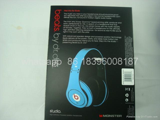 Top Quality Monster Beats By Dr.Dre Studio wireless bluetooth beats Headphones 2