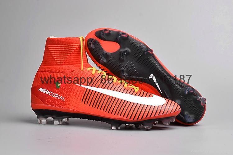 Free shipping 1:1 Nike Football  World Cup sports High Boots shoes  2