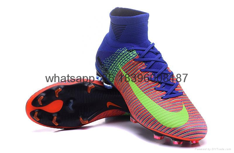 Free shipping 1:1 Nike Football  World Cup sports High Boots shoes  3