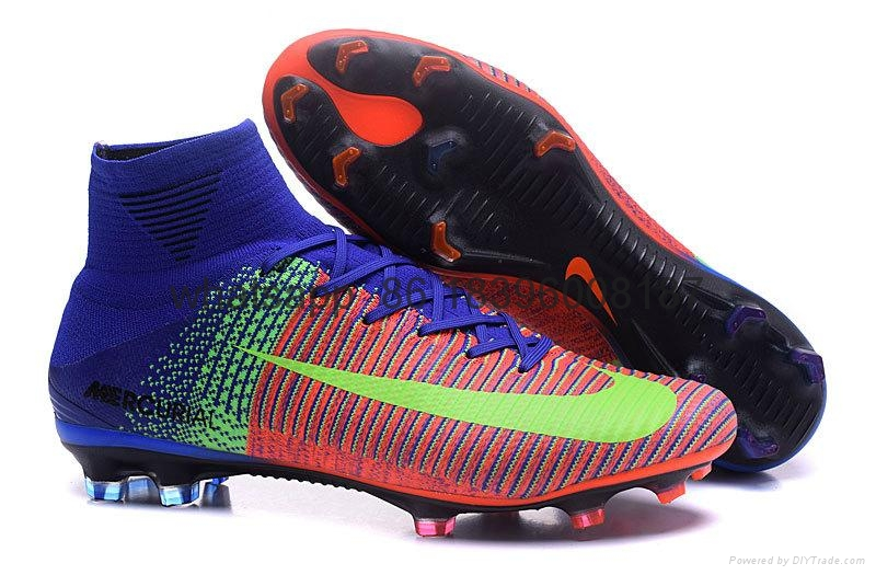 Free shipping 1:1 Nike Football  World Cup sports High Boots shoes  8