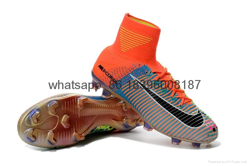 Free shipping 1:1 Nike Football  World Cup sports High Boots shoes  10