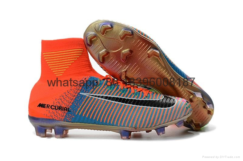Free shipping 1:1 Nike Football  World Cup sports High Boots shoes  14
