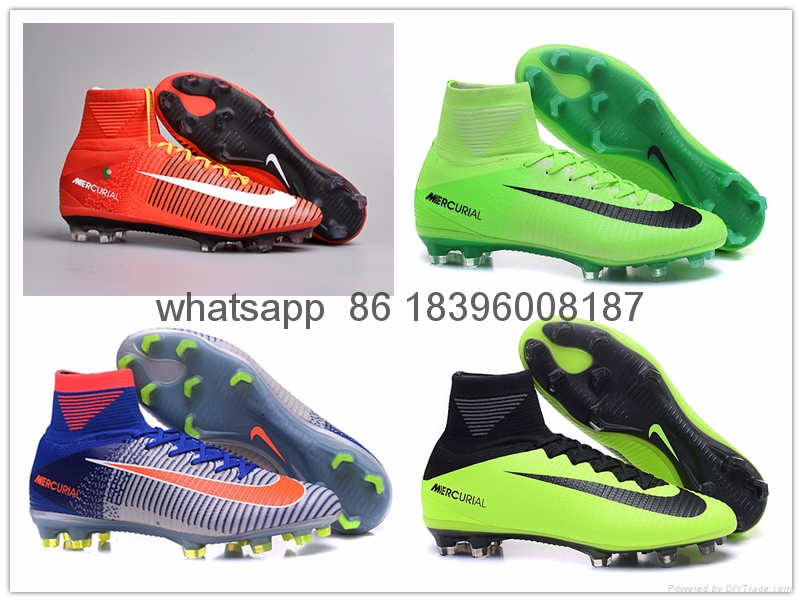 Free shipping 1:1 Nike Football  World Cup sports High Boots shoes  1