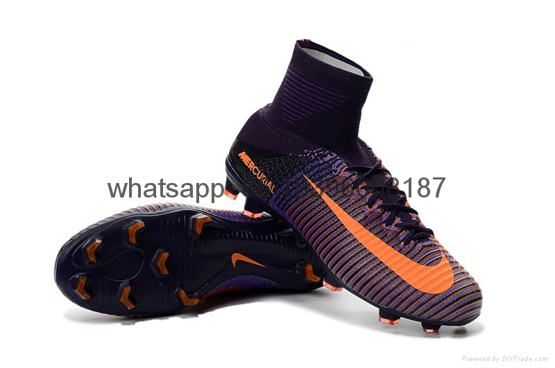 Free shipping 1:1 Nike Football  World Cup sports High Boots shoes  19