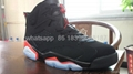 Nike Air Jordan 6  Retro BG GS  infrared Black Suede AJ6 Black Infrared shoes
