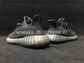 Adidas Yeezy 350V2 ALL Black Real Boost  running shoes wholesale freeshipping