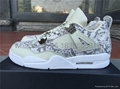 Authentic Nike Air Jordan 4 Premium Snakeskin shoes free shipping hot shoes AJ4