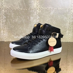 wholesale top BUSCEMI  high top Designer Bovine sheepskin leather shoes sneakers