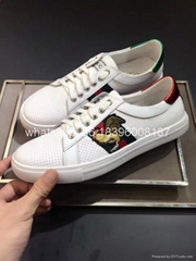 wholesale cheap High Quality Gucci Red Flower casual real leather shoes