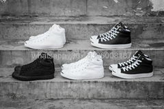 Converse jack purcell shoes leather mid  classic all star converse shoes