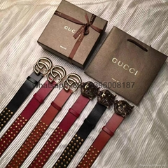 newest top 1:1 quality cheap price gucci buckle leather fashion men women belts