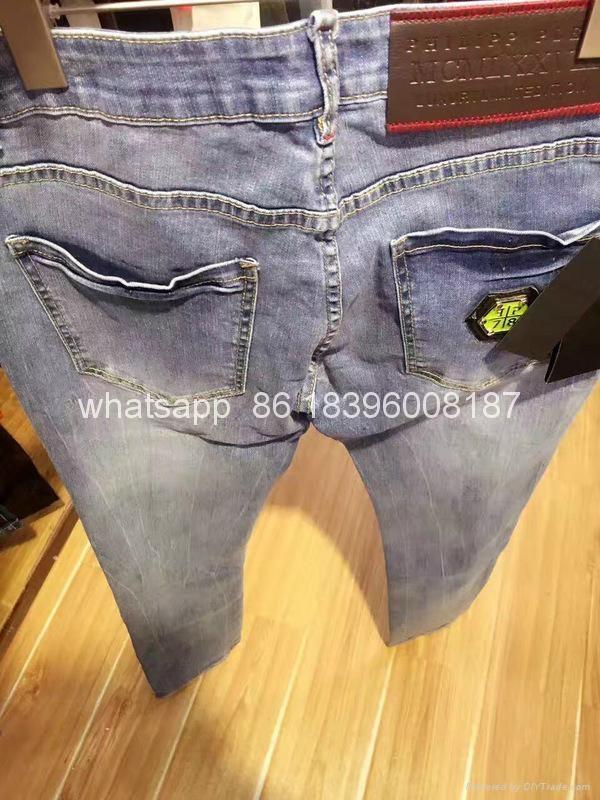 Wholesale top quality  Philipp Plein replica jeans pants sweatpants Men Trousers 11