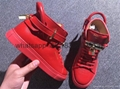 Factory wholesale Buscemi high top quality sheepskin leather shoes sneakers