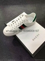 factory wholesale newest 2017 cheap top quality gucci white snake shoes sneakes
