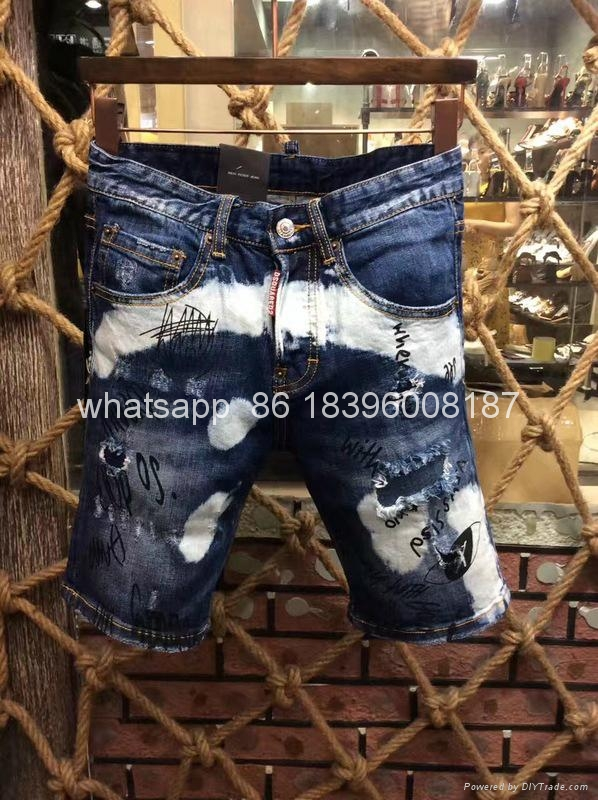 wholesale Newest Dsquared2 replica cheap DSQ2 men's Shorts jeans pants Trousers  2