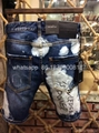 wholesale Newest Dsquared2 replica cheap DSQ2 men's Shorts jeans pants Trousers  3