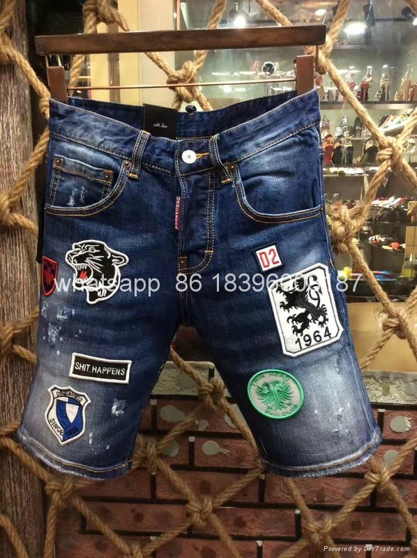 wholesale Newest Dsquared2 replica cheap DSQ2 men's Shorts jeans pants Trousers  4