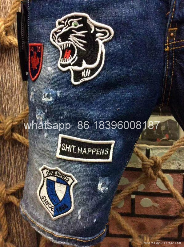 wholesale Newest Dsquared2 replica cheap DSQ2 men's Shorts jeans pants Trousers  6