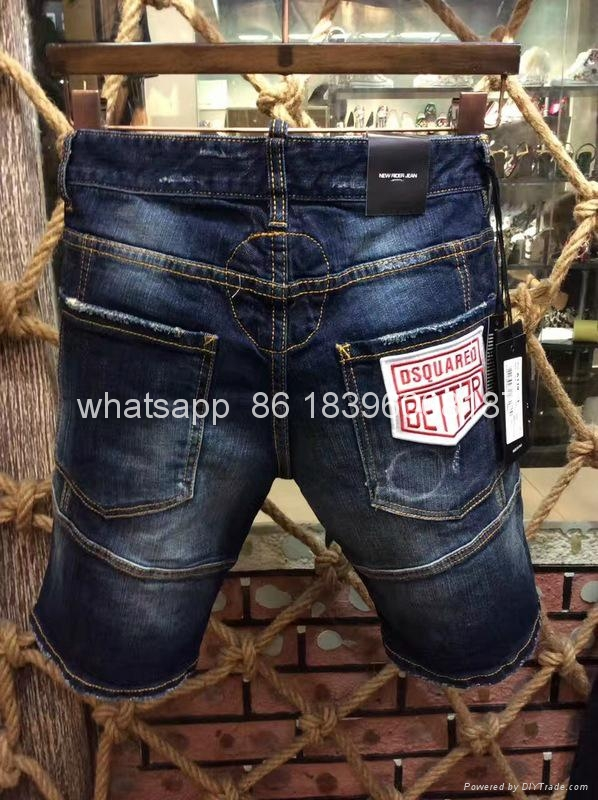 wholesale Newest Dsquared2 replica cheap DSQ2 men's Shorts jeans pants Trousers  19