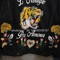 wholesale newest top high quality gucci embroidered denim jeans jackets clothes