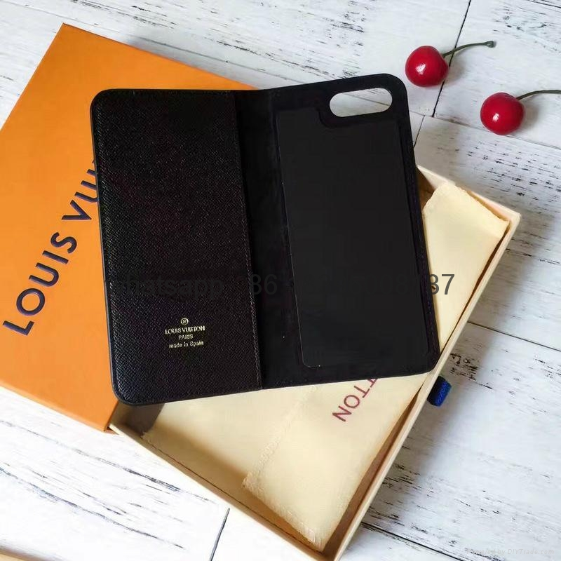 wholesaletop Louis Vuitton 1:1quality Cover fashion phones lv cases leather case 15