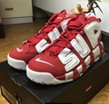 wholesale top Supreme x Nike Air More Uptempo running shoes sneakers