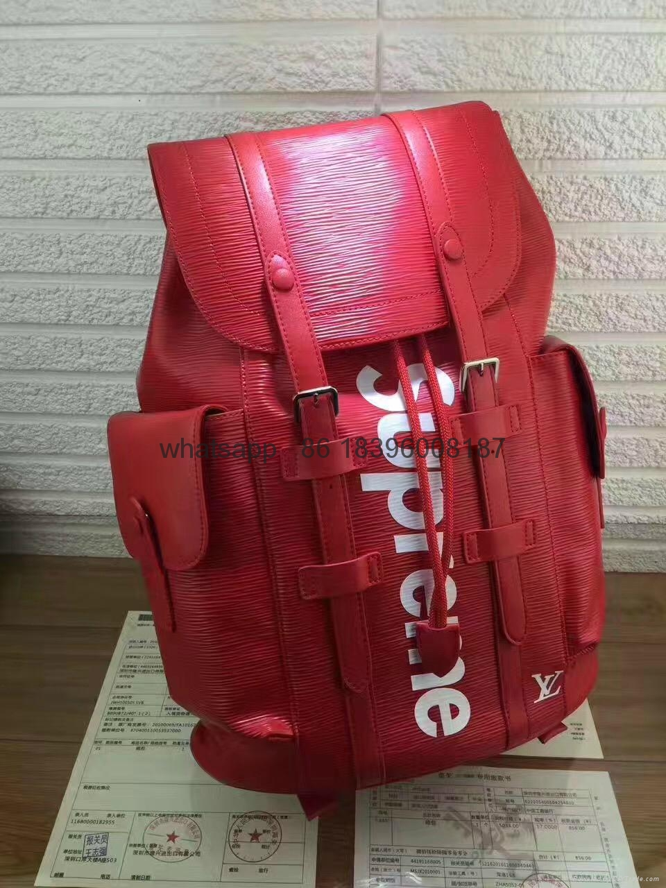 wholesale top 1:1 aaa newest Louis Vuitton supreme lv backpack bags Luggages  5