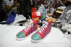 Wholesale top Hot Christian Louboutin Personal Tailo CL Shoes Men women Sneaker 1