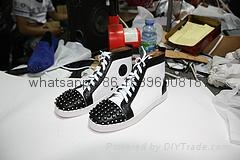 Wholesale top Hot Christian Louboutin Personal Tailo CL Shoes Men women Sneaker 13