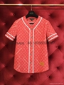 wholesale original quality newest Louis Vuitton Supreme LV baseball shirt  denim
