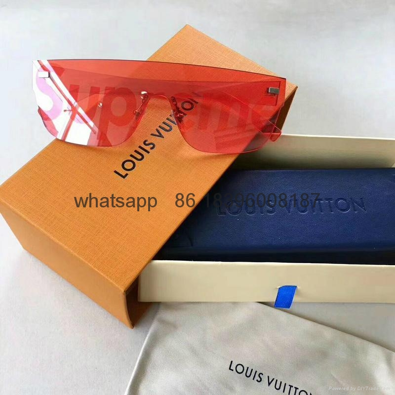 wholesale newest LOUIS VUITTON x SUPREME lv sunglasses free shipping hot sell  7
