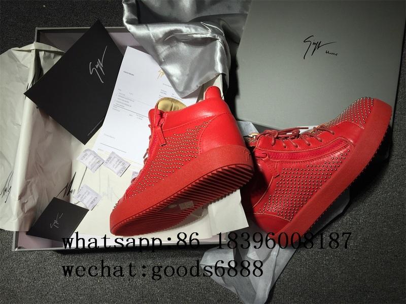 wholesale Giuseppe Zanotti Sneaker boots gz real Leather fashion shoes 2