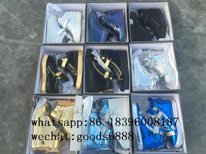 wholesale Giuseppe Zanotti Sneaker boots gz real Leather fashion shoes