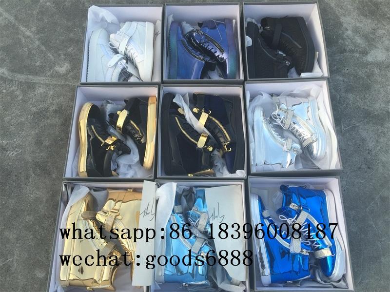 wholesale Giuseppe Zanotti Sneaker boots gz real Leather fashion shoes 1