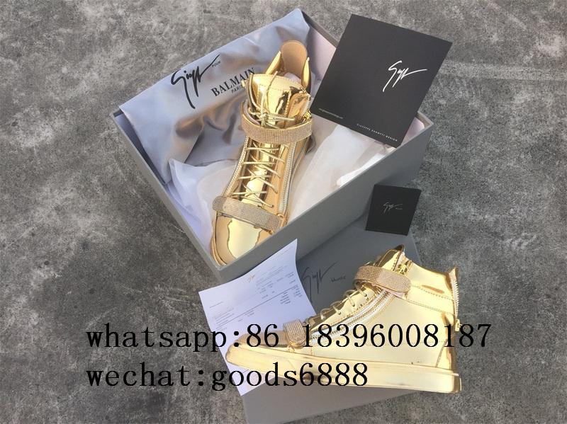 wholesale Giuseppe Zanotti Sneaker boots gz real Leather fashion shoes 10