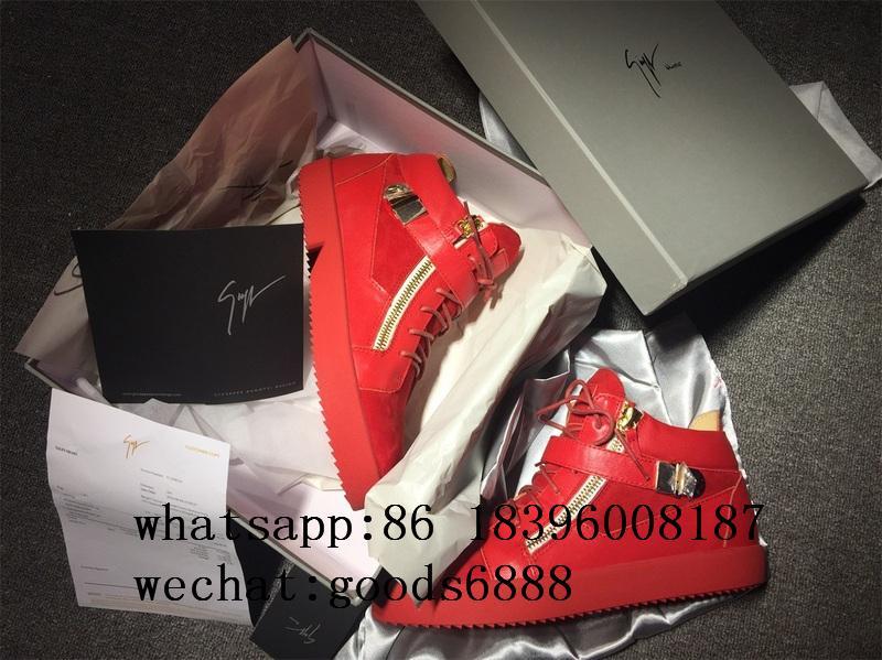 wholesale Giuseppe Zanotti Sneaker boots gz real Leather fashion shoes 13