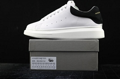 Wholesale top ALEXANDER MCQUEEN white classic sneakers women men leather shoes