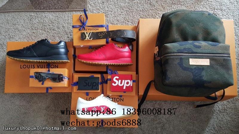 Wholesale Supreme X Louis Vuitton Duffle Bag Handbags suitcase leather wallets  4