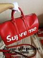 Wholesale Supreme X Louis Vuitton Duffle Bag Handbags suitcase leather wallets  9