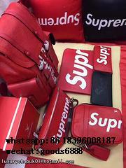 Wholesale Supreme X Louis Vuitton Duffle Bag Handbags suitcase leather wallets  18