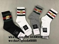 top gucci  interlocking 100% cotton socks gg stretch cotton socks with tiger