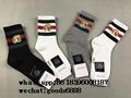 top gucci  interlocking 100% cotton socks gg stretch cotton socks with tiger