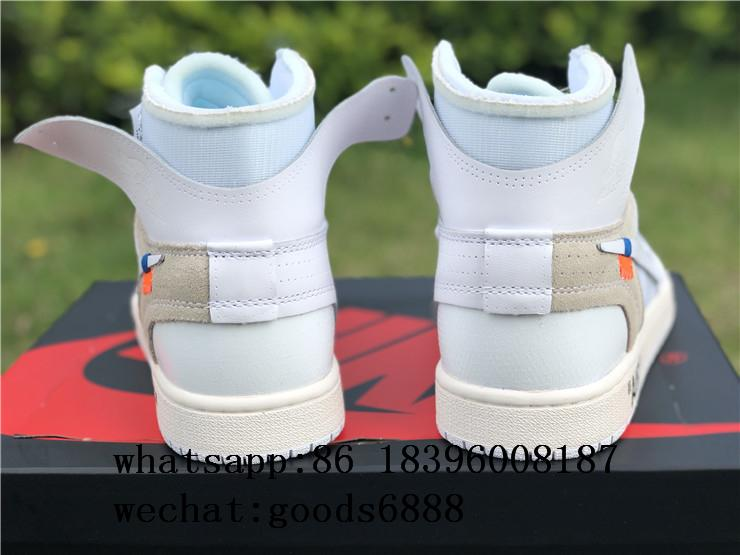 "authentic NIKE AIR JORDAN 1 ""OFF-WHITE"" Shoes Sneakers Release Online For Sale 3"